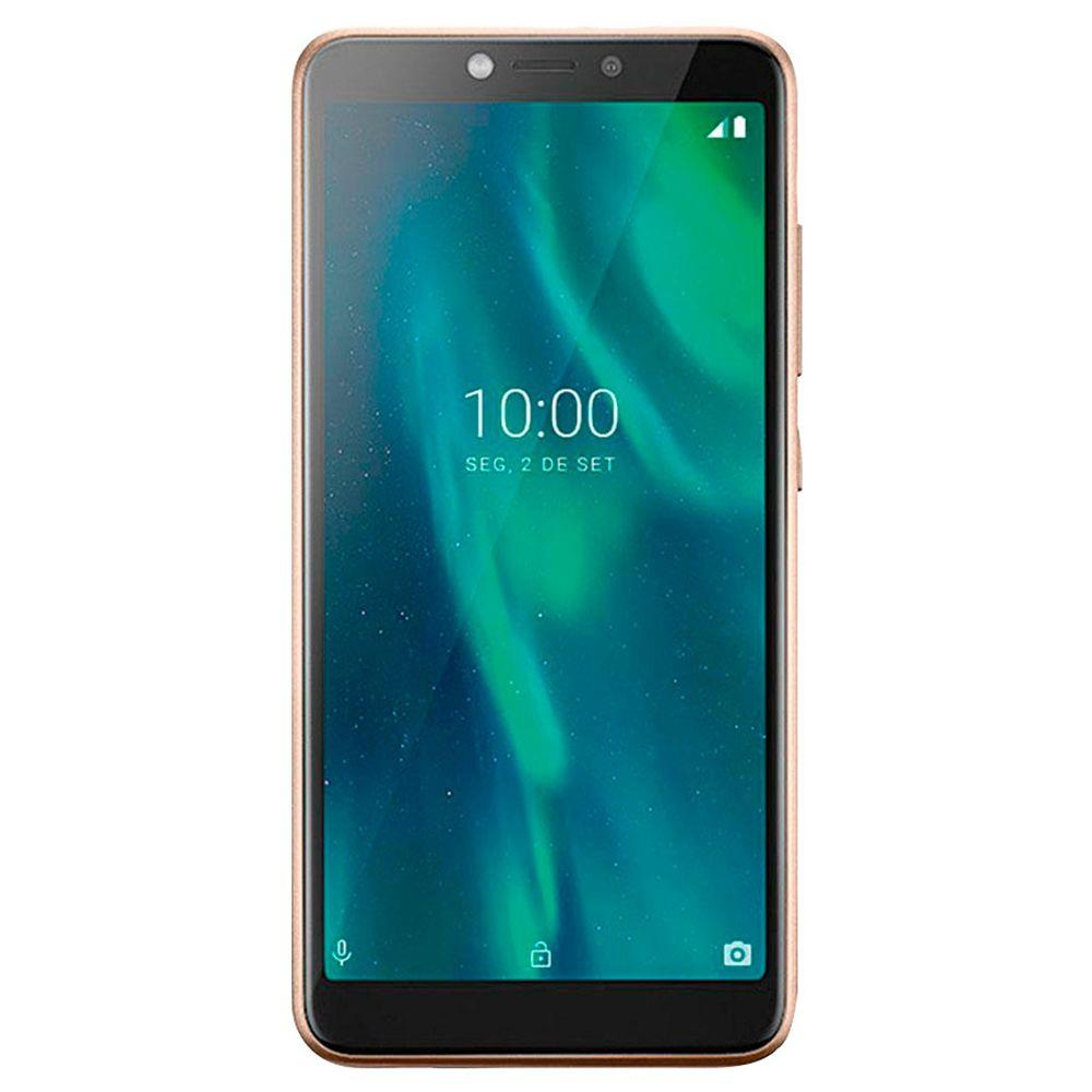 "SMARTPHONE MULTILASER F P9131 32GB DUAL CHIP TELA 5.5"" CÂMERA 5MP FRONTAL 5MP ANDROID 9 DOURADO"