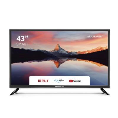 TV MULTILASER 43 POLEGADAS FULL HD COM FUNCAO SMART E WIFI INTEGRADO - TL015