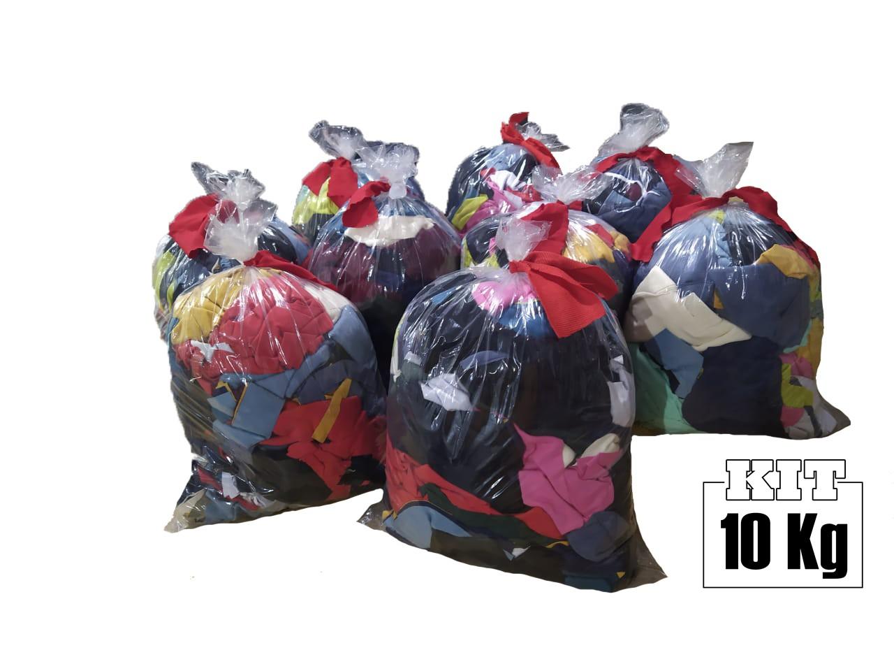 10 Kgs Retalho de Malha 100% Algodão Cores Sortidas Pedaços  - HF | High Flight