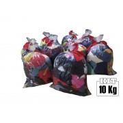 10 Kgs Retalho de Malha 100% Algodão Cores Sortidas Pedaços