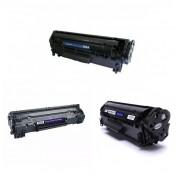 3 Toner's Similares Vazios Q2612A-CB435A-CB436A-CE285-CF283A