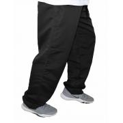 Calça Perna Larga Plus Size para Caminhada Com Bolso Interno