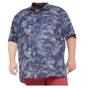 Camisa Colarinho XPlus Size Estampada