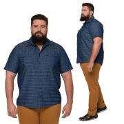 Camisa Masculina Colarinho Balãozinho Plus Size