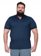 Camisa Polo Jackard Masculina Plus Size