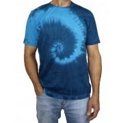 Camiseta Algodão Tie Dye Hippie Espiral