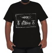 Camiseta Blueprint Moto Plus Size