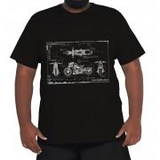 Camiseta Blueprint Moto XPlusSize 100% Algodão