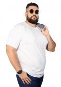 Camiseta Branca Básica Elegante Plus Size