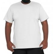 Camiseta Branca Plus Size Básica Elegante 100% Algodão