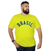 Camiseta Brasil 100% Algodão