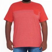 Camiseta Listrada Moline Recorte Peito XPlus Size