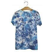 Camiseta Masculina Tie Dye Nuvem Juvenil