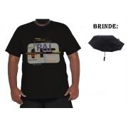 Camiseta Papai Plus Size 100% Algodão + Guarda-Chuva Brinde