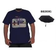 Camiseta Papai XPlusSize 100% Algodão + Guarda-Chuva Brinde