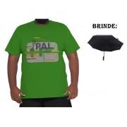 Camiseta Papai XXPlusSize 100% Algodão + Guarda-Chuva Brinde