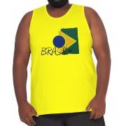 Camiseta Regata Brasil Algodão XPlusSize