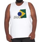 Camiseta Regata Brasil Algodão XXPlusSize