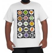 Camiseta Super-Hérois XPlusSize 100% Algodão