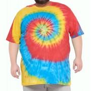 Camiseta Tie Dye Multi Cores Plus Size
