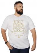 Camiseta Viva Sorrindo 100% Algodão