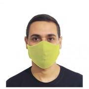 Kit 100 Máscaras Amarelas Protetora Lavável Promoção Atacado