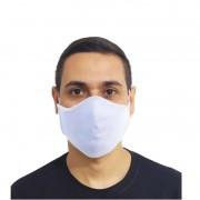 Kit 100 Máscaras Brancas Protetora Lavável Promoção Atacado