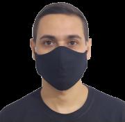 Kit 100 Máscaras Pretas Lavável Protetora  Atacado