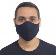 Kit 100 Máscaras Pretas Lavável Protetora Promoção Atacado