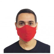 Kit 100 Máscaras Vermelha Protetora Lavável Promoção Atacado