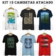 Kit 12 Camisetas T-Shirt Plus Size para Revenda Atacado