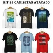 Kit 24 Camisetas T-Shirt Plus Size para Revenda Atacado
