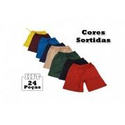 Kit 24 Shorts Bebê Menino Infantil 100% Algodão Fases
