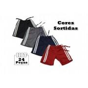 Kit 24 Shorts Bebê Menino Infantil 100% Poliéster Fases