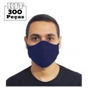 Kit 300 Máscaras Marinho Tradicionais 100% Algodão