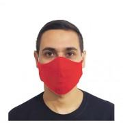 Kit 50 Máscaras Vermelhas Protetora Lavável Promoção Atacado