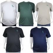 Kit 5 Camisetas Básicas Com Bolso