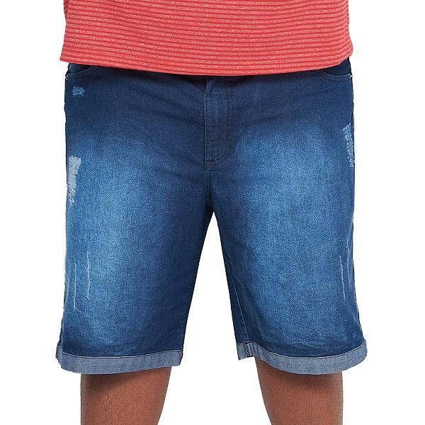 Bermuda Jeans Masculina Stone Plus Size  - HF | High Flight