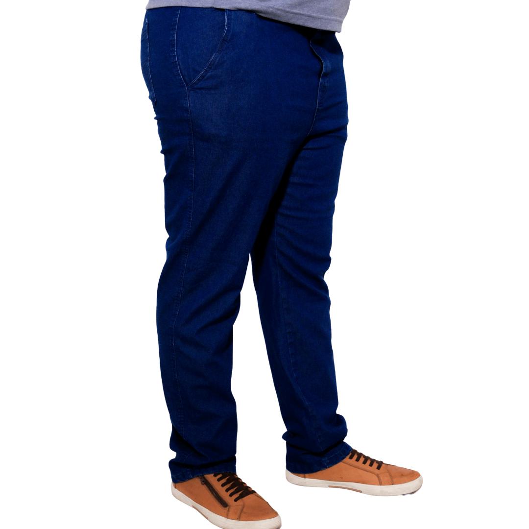 Calça Jeans Amaciado de Cós com Elástico Plus Size  - HF | High Flight