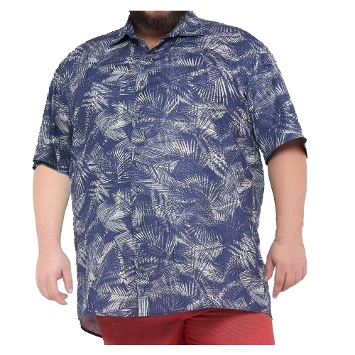 Camisa Masculina Colarinho Estampada Plus Size  - HF | High Flight