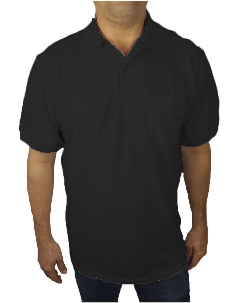 Camisa Polo com Bolso Piquet Plus Size  - HF | High Flight