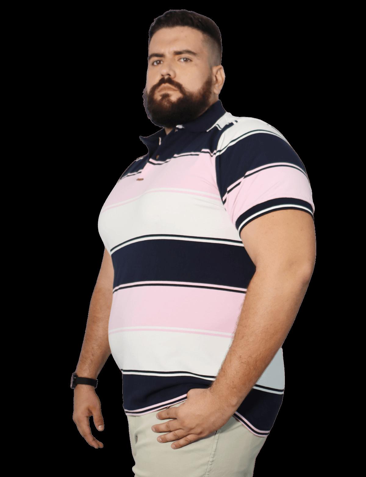 Camisa Polo Masculina Listrada Plus Size  - HF | High Flight