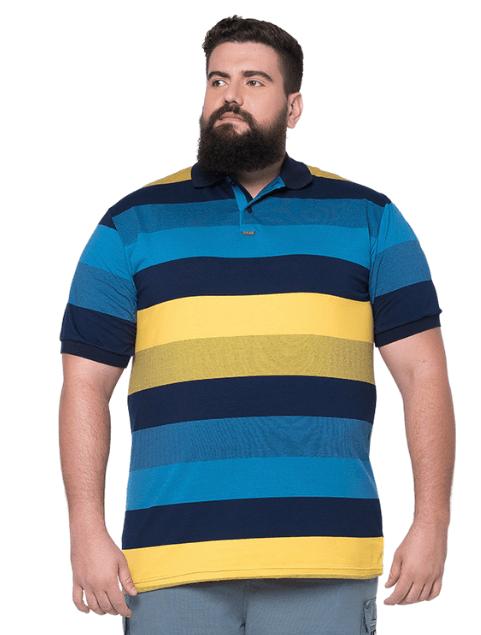 Camisa Polo Masculina Listrada XPlusSize  - HF | High Flight