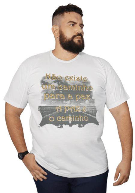 Camiseta A paz é o Caminho 100% Algodão  - HF | High Flight