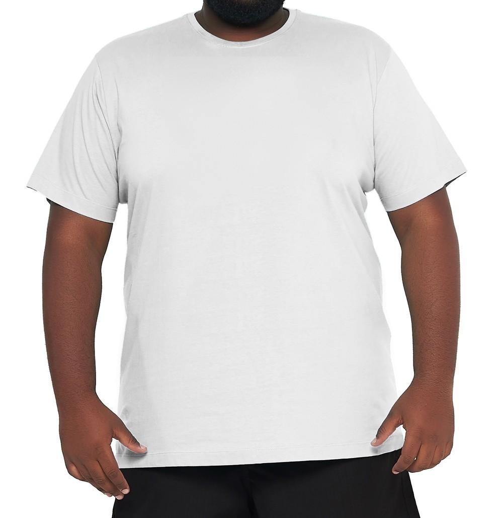 Camiseta Branca XPlusSize Básica Elegante 100% Algodão  - HF | High Flight