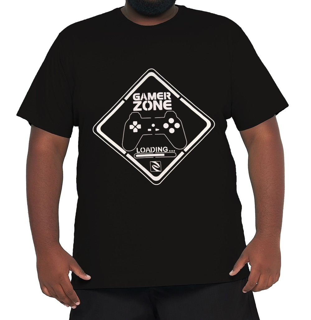 Camiseta Gamer Zone XXPlusSize 100% Algodão  - HF | High Flight