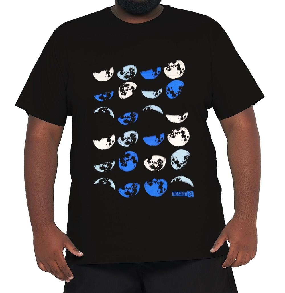 Camiseta Lua Plus Size 100% Algodão  - HF | High Flight