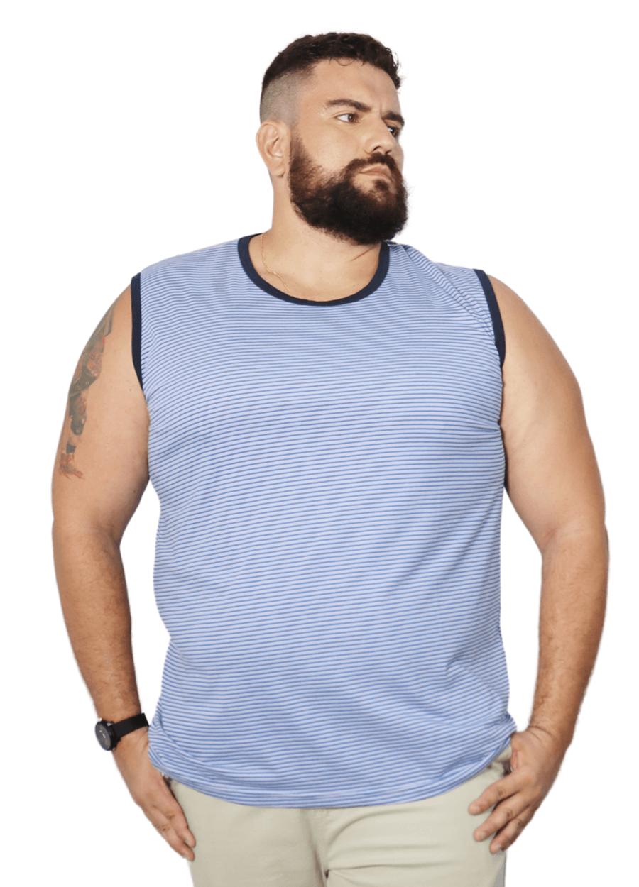 Camiseta Machão Listrada XPlusSize  - HF | High Flight