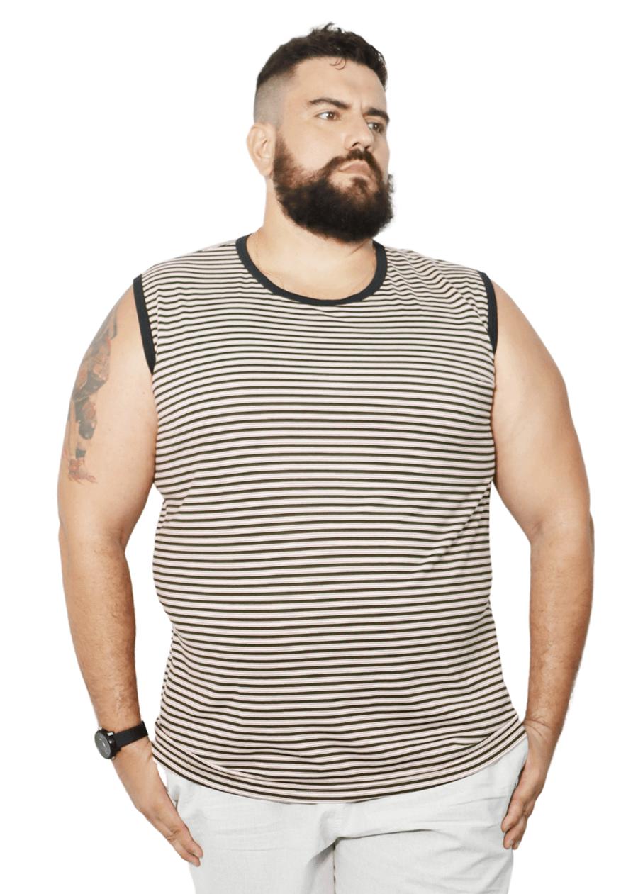 Camiseta Machão Listrada XXPlusSize  - HF | High Flight