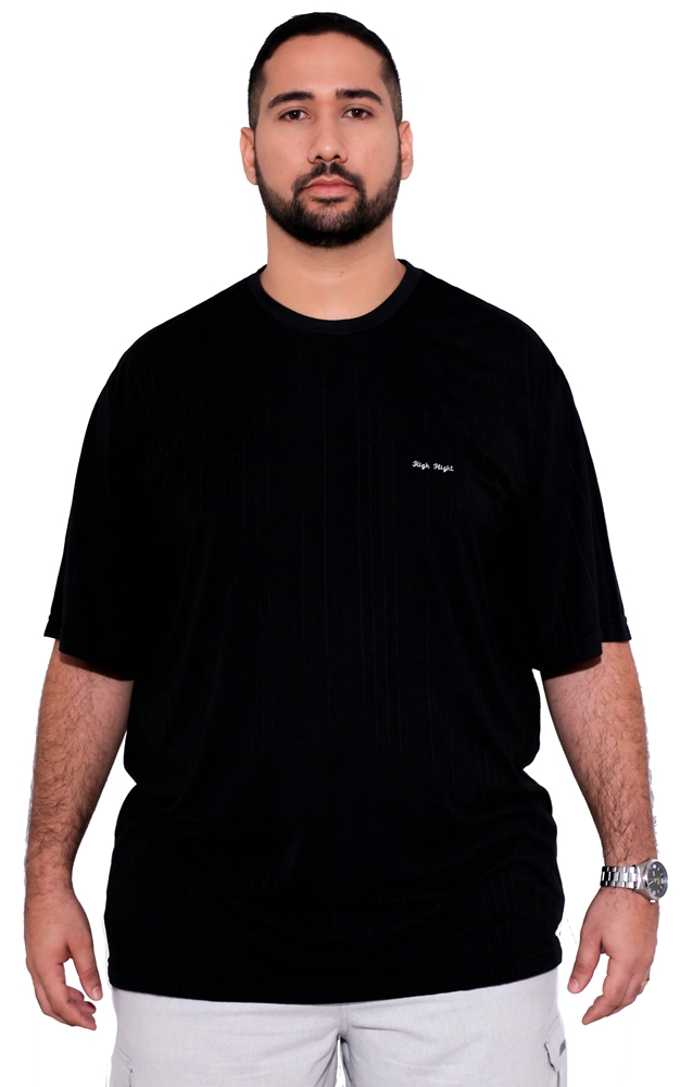 Camiseta Masculina Bordada Plus Size  - HF | High Flight